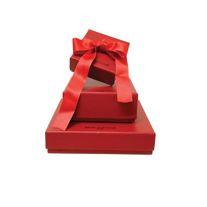 Jewelry boxes - ASTUCCIO Black and Coral per sito