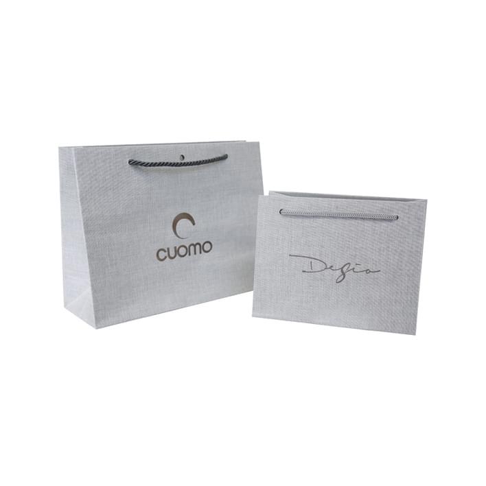 Luxury paper bags - linen paradais