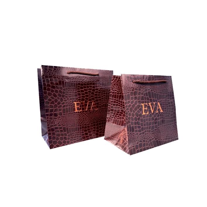 Luxury paper bags - pelleq-croco